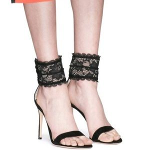 Gianvito Rossi Lace Ankle Cuff Heels Size 37